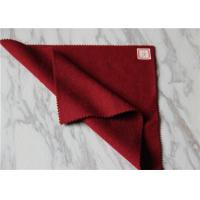 Quality Dark Red Wool Fabric In Stock 5 Cashmere , 60% Wool Suiting Fabric For Women for sale