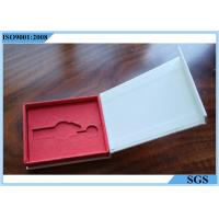 China Metal Key White Cardboard Jewelry Boxes Color Printing Interior Spongy Foam on sale