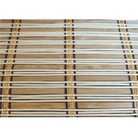 Eco Friendly Natural Bamboo Blinds , Motorized Outdoor Roll Up Bamboo Shades Manufactures