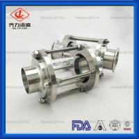 Food Grade Sanitary Tank Fittings Durable Straight Type  Pipe Sight Glass Manufactures