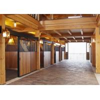 China Horse Stall With Divider Solid Back Wall u Channels Connectors on sale