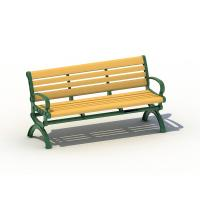 Solid Wood Outdoor Garden Bench With Galvanized Steel Anti UV Manufactures