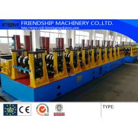 17 Stations and Two Waves Roll Station Guardrail Roll Forming Equipment Machine With Gearbox Drive Manufactures