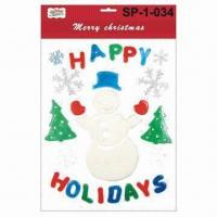 Quality Gel Sticker, Window Mosaic/Ornaments, for Christmas for sale