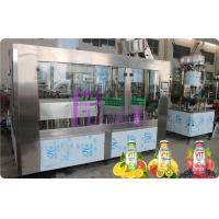 Glass Bottle Filler Machine Automatic Juice / Tea Bottling Filling Machine 6000 - 8000BPH Manufactures