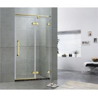 Hotel Frameless Sliding Shower Doors 8MM Tempered Glass With Green Bronze Inline Manufactures