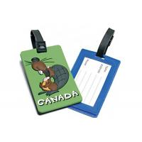 Soft PVC Travel Hard Plastic Luggage Tags Top Grade Raw Materials Non Toxic Manufactures