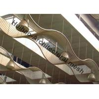 Exterior Wall Cladding Metal Mesh , Stainless Steel Cables Mesh Sunshades Screen Manufactures