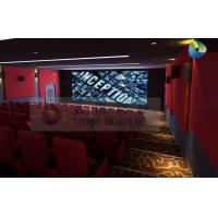 Popular 3D Cinema System With Red Comfortable Seats And Latest 3D Films Manufactures