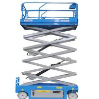 China Self Propelled Hydraulic Scissor Lift Trolley Platform Gate With Automatic Lock on sale