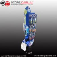 customize corrugated double sides floor display rack peg hooks Manufactures
