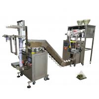 Nylon Triangle Tea Bag Sealing Machine , 220V Tea Powder Packing Machine Manufactures