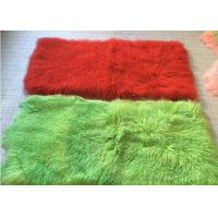 Quality 110cm * 55cm Sheepskin Accent Rug Plate For Home Throw / Making Garment for sale