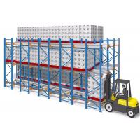 China Frozen Warehouse Shuttle Pallet Racking System Semi Automatic Racking on sale