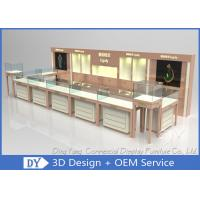 Nice Beige Jewellery Counters Showcases / Jewellery Showcase Design Manufactures