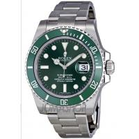 Rolex Submariner Green Dial Steel Mens Watch 116610LV Manufactures