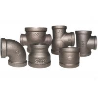 Durable Black Metal Pipe Fittings , Socket Weld Pipe Fittings ISO7/1 Thread Manufactures