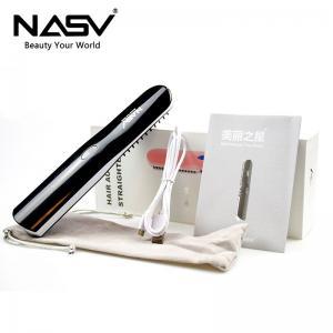 Quality Ionic Hair / Beard Home Hair Straightener Brush Ceramic Heated LCD Digital for sale