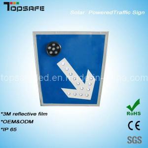Aluminum Flashing Solar LED Traffic Direction Pole/Post (TPS-S3) Manufactures