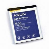 Li-ion Mobile Phone Battery, Suitable for Nokia 6101, 1,350mAh Battery Capacity Manufactures