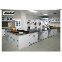 China Waterproof PP Lab Bench With Reagent Shelves In Chemistry Laboratory on sale