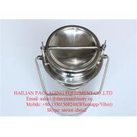 Liquid Stainless Steel Milk Cans For Sale , Milk Bucket Wine Can Manufactures
