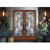 Removable Theft Proof Decorative Panel Glass Brass / Nickel / Patina Caming Manufactures