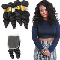 Unprocessed Loose Curly Hair Extensions / Loose Curly Virgin Indian Hair Manufactures