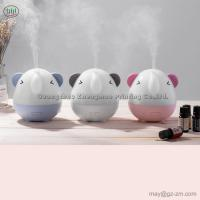 China 250ml Air Humidifier Cute Elephant Ultrasonic Aromatherapy Diffuser With Adapter 7 Color Night Light Mist Maker for Home on sale