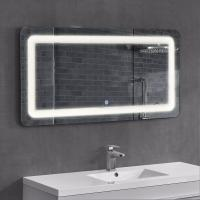 China Frameless Led Surrounded Backlit Lighted Bathroom Wall Mirror With Bluetooth Radio on sale