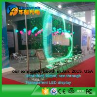 China Transparent Glass Window Video Wall Led Screen Full Color 6000cd/sq.m on sale