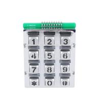 Chinese manufacture 3X4 matrix die casting mold backlight keypad/keyboard with blue led Manufactures