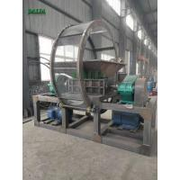 4000kg/h Capacity Single Shaft Shredder Machine For Crushing Scrap Plastics Manufactures