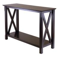 Traditional Modern Console Table , Narrow Entry Table With X Leg Design Manufactures