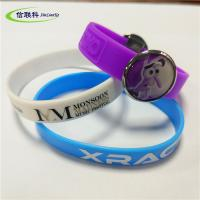 Unisex Silicone Sports Bracelets Hand Catenary With Custom Logo Printed Manufactures