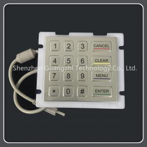 China 4 X 4 Layout Custom Usb Keyboard , Ip67 Class 16 Key Keypad Waterproof on sale