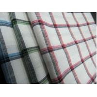 55%LINEN 45%COTTON  YARN DYED   FABRIC WITH CHECKS   CWT#3214 Manufactures