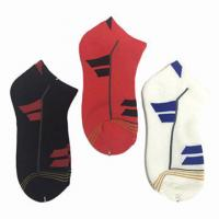 China Cotton Spandex Students School Knitted Towelling Socks on sale