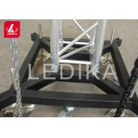 Truss Basement Stage Truss System Lift Steel Base Plate With Wheels / Outrigger Manufactures