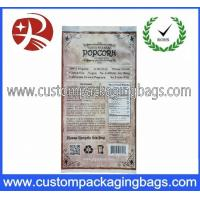 China 3.2mil Heat Seal Compound Custom Plastic Food Packaging Bags For Popcorn on sale