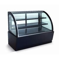 Curved Glass Refrigerated Display Case Cabinet For Cakes And Bakeries Manufactures