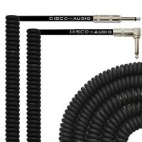 CE Audio Link Cable , 20 Foot Curly Guitar Instrument Cable Right Angle 1/4 Inch TS to Straight Manufactures