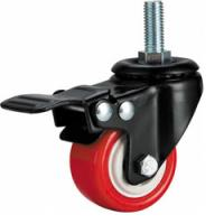 Light duty caster,screw with brake caster,small PU caster wheel,wringer castor,ring caster,rack castor Manufactures