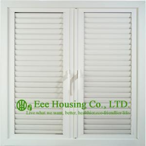 UPVC Shutter casement window For ResidentialHome,White Color Profile Vinyl Louvers Window