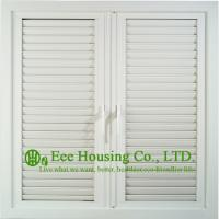 Quality UPVC Shutter casement window For ResidentialHome,White Color Profile Vinyl Louvers Window for sale