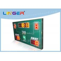 Wireless Basketball Scoreboard , Basketball Clock Timer Red / Yellow / Green Color Manufactures