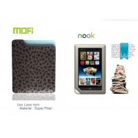 Dark Brown Super Fiber Customized Tablet Protective Leather Nook Case With Logo Laser Manufactures