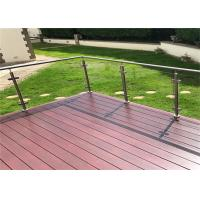 Customized 316 Stainless Steel Glass Railing Strong Rust Resistance For Pool Fence Manufactures
