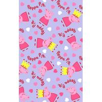 China peppa pig print 100% cotton flannel double side brushed fabric wholesale on sale