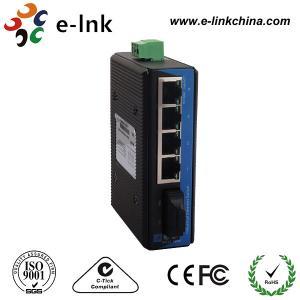 4 port 10/100M + 1 port FC Unmanaged DIN-rail single mode Industrial Ethernet switch Manufactures